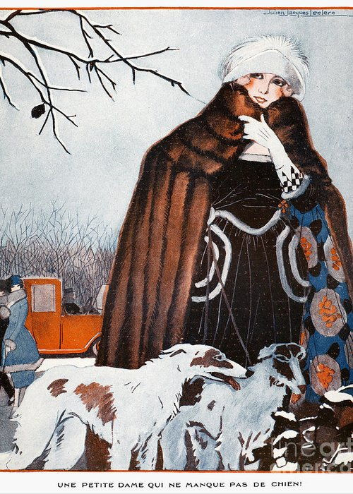 1921 Greeting Card featuring the photograph Parisian Style, 1921 by Granger