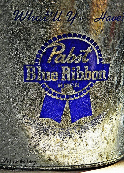 Adult Greeting Card featuring the photograph Pbr Bucket O Beer by Chris Berry