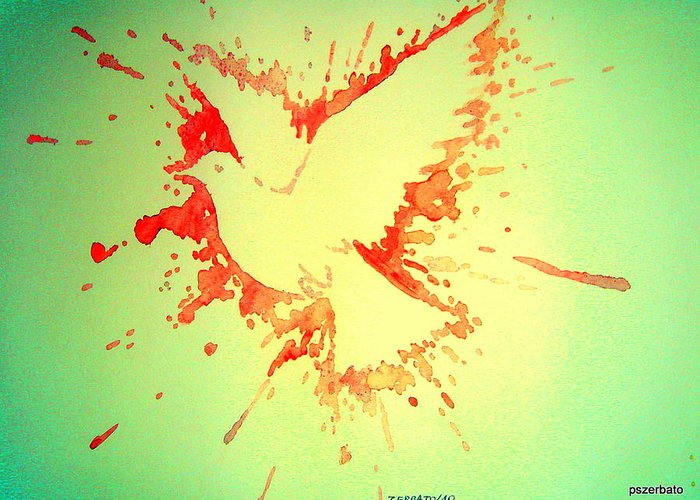 Peace Made By War Greeting Card featuring the digital art Peace Made By War by Paulo Zerbato