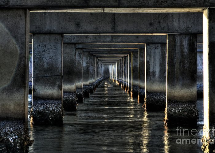 Tunnel Greeting Card featuring the photograph Perpectives by Michael Herb