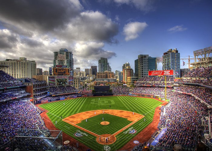 Petco Park Greeting Card featuring the photograph Petco Park Opening Day by Shawn Everhart