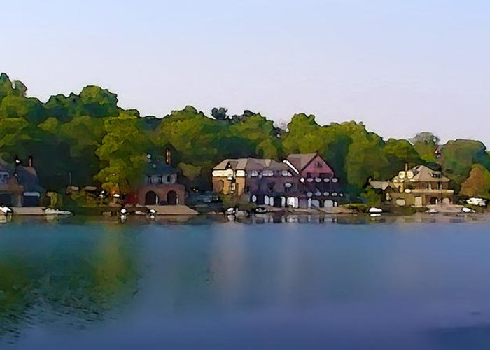 Philadelphia Boat House Row Greeting Card by Bill Cannon