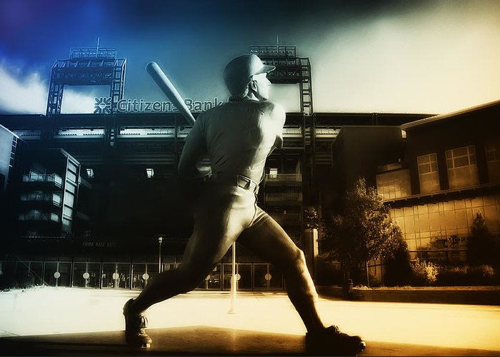 Philadelphia Greeting Card featuring the photograph Philadelphia Phillie Mike Schmidt by Bill Cannon