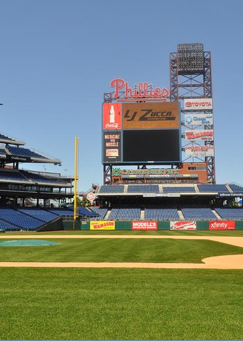 Philadelphia Phillies Greeting Card featuring the photograph Philadelphia Phillies Stadium by Brynn Ditsche