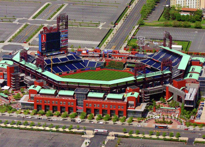 Phillies Greeting Card featuring the photograph Phillies Citizens Bank Park by Duncan Pearson