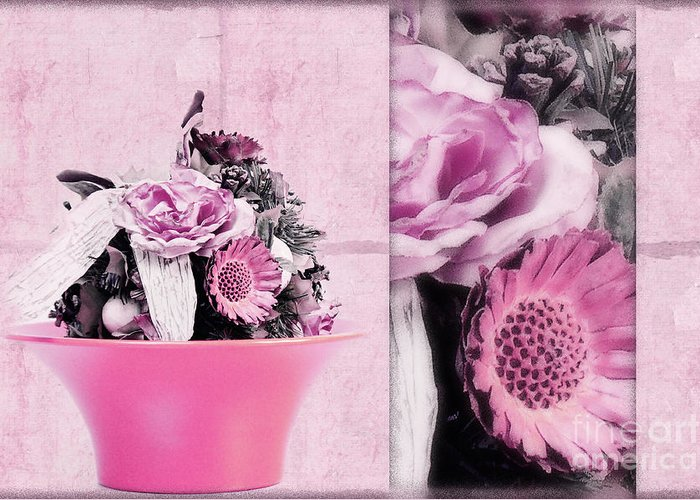 Pink Greeting Card featuring the photograph Pink by Angela Doelling AD DESIGN Photo and PhotoArt