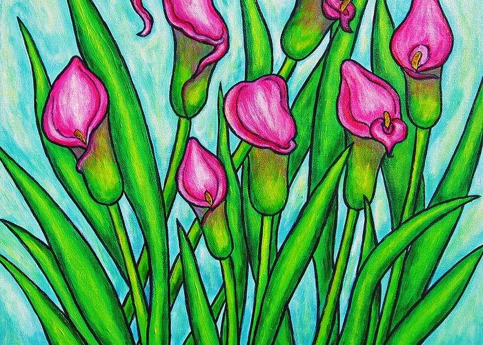 Lisa Lorenz Greeting Card featuring the painting Pink Ladies by Lisa Lorenz
