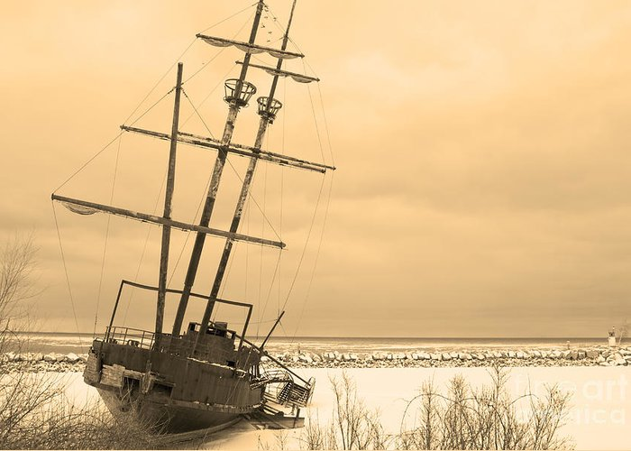 Shipwreck Greeting Card featuring the photograph Pirates In The Harbour by DebraLee Wiseberg