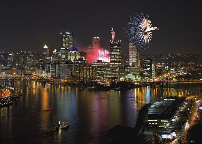 Steelers Greeting Card featuring the photograph Pittsburgh 3 by Emmanuel Panagiotakis
