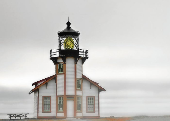 Point Cabrillo Lighthouse Greeting Card featuring the photograph Point Cabrillo Light Station - Mendocino Ca by Christine Till