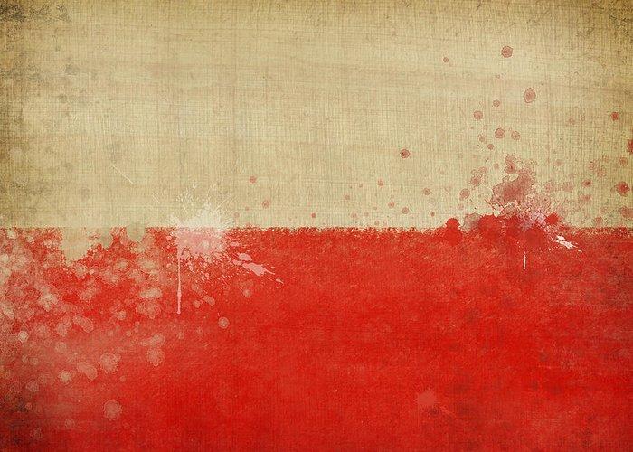 Chalk Greeting Card featuring the photograph Poland Flag by Setsiri Silapasuwanchai