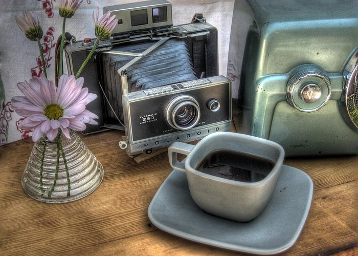 Coffee Greeting Card featuring the photograph Polaroid Perceptions by Jane Linders