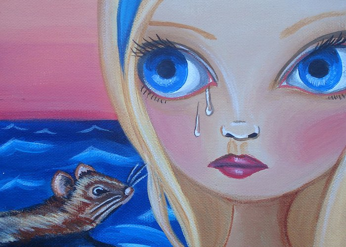 Pool Of Tears Greeting Card featuring the painting Pool Of Tears by Jaz Higgins