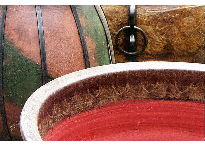 Old Pots Greeting Card featuring the photograph Pottery Abstract by Ben and Raisa Gertsberg