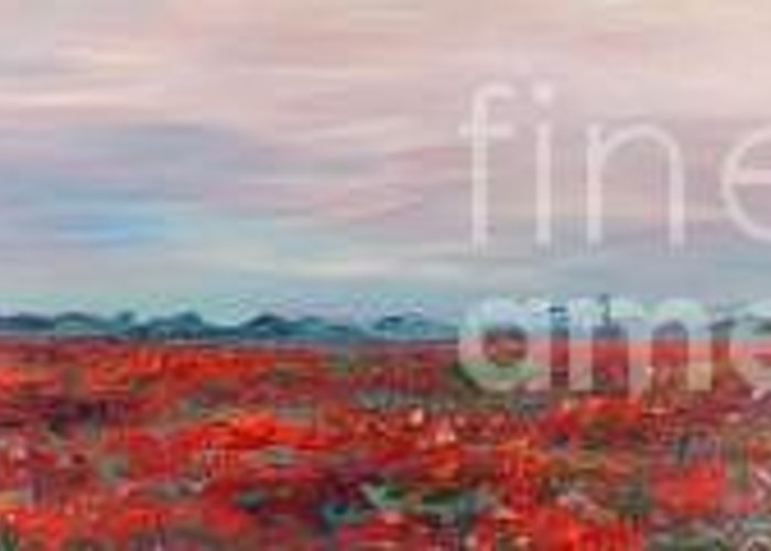 Poppies Greeting Card featuring the painting Provence Poppies by Nadine Rippelmeyer