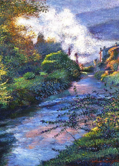 Impressionism Greeting Card featuring the painting Provence River by David Lloyd Glover