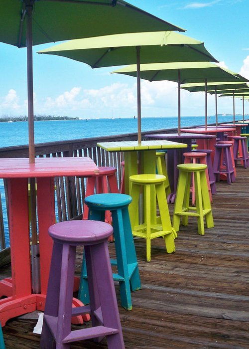 Florida Greeting Card featuring the photograph Rainbow Of Keys by Chris Andruskiewicz