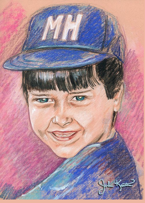 Randy Greeting Card featuring the pastel Randy by John Keaton
