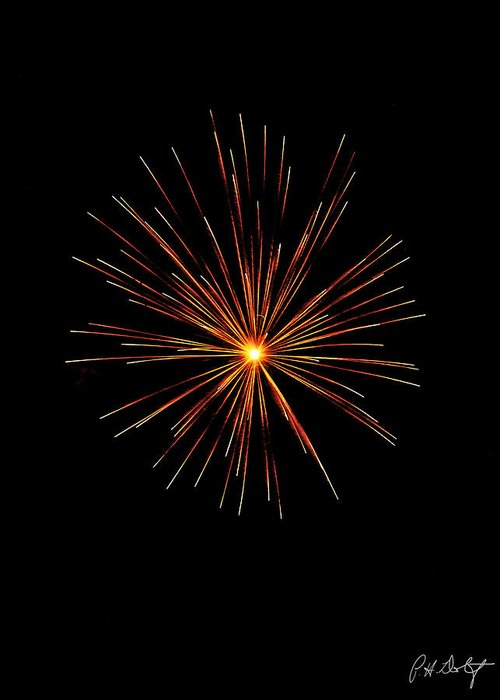 July 4th Greeting Card featuring the photograph Red Burst by Phill Doherty