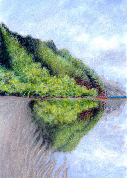 Coastal Decor Greeting Card featuring the painting Reflection by Kenneth Grzesik