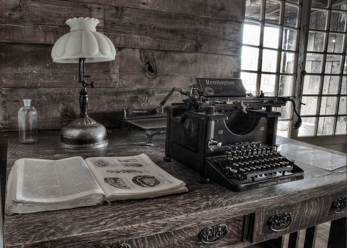 Old Typewriter Greeting Card featuring the photograph Remington Standard by David Wagner