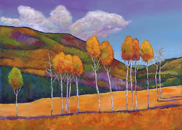 Autumn Greeting Card featuring the painting Reminiscing by Johnathan Harris