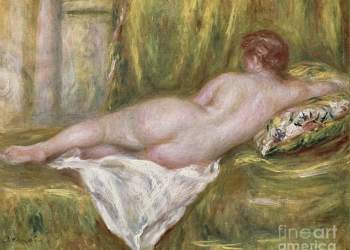 Renoir Greeting Card featuring the painting Rest After The Bath by Pierre Auguste Renoir