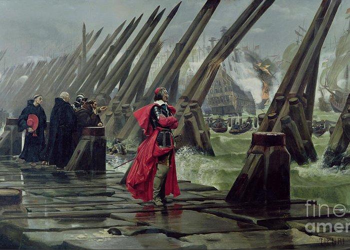 Richelieu Greeting Card featuring the painting Richelieu by Henri-Paul Motte
