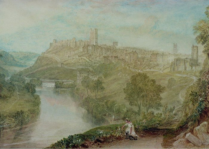 Richmond Greeting Card featuring the painting Richmond In Yorkshire by Joseph Mallord William Turner