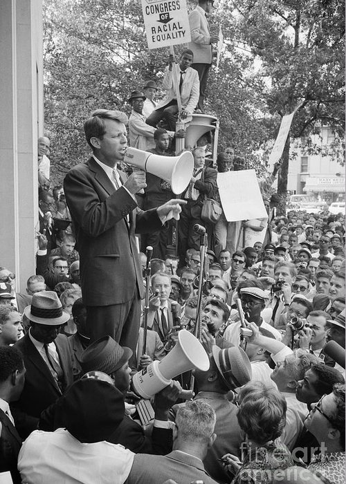 1963 Greeting Card featuring the photograph Robert F. Kennedy by Granger