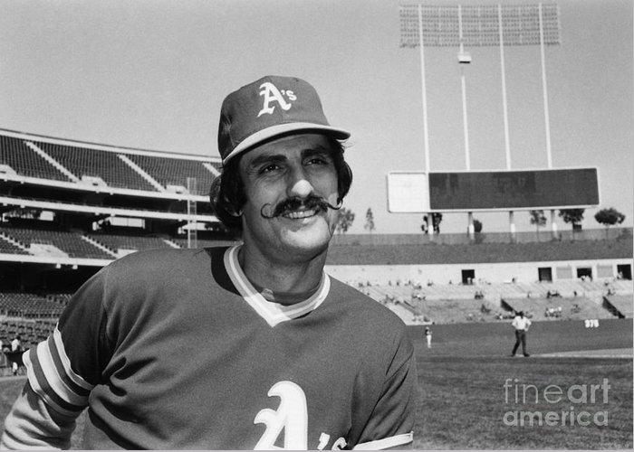 1975 Greeting Card featuring the photograph Rollie Fingers (1946- ) by Granger