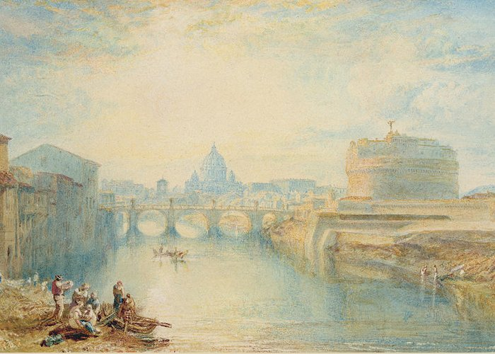 Rome Greeting Card featuring the painting Rome by Joseph Mallord William Turner
