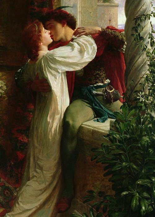 Romeo And Juliet Greeting Card featuring the painting Romeo And Juliet by Sir Frank Dicksee