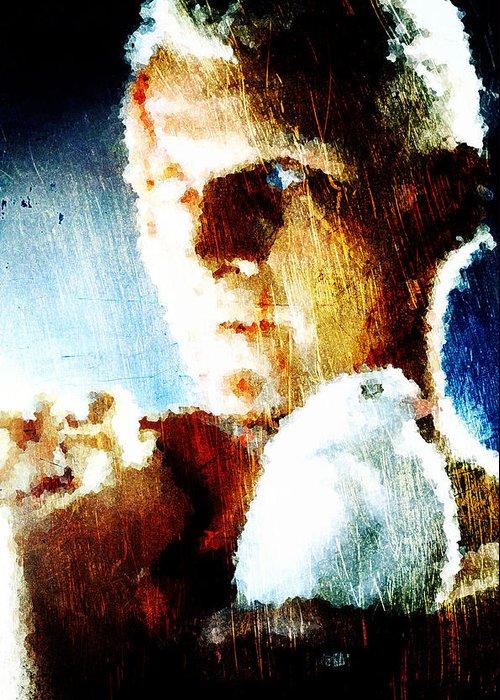 Roy Batty Greeting Card featuring the digital art Roy Batty by Andrea Barbieri