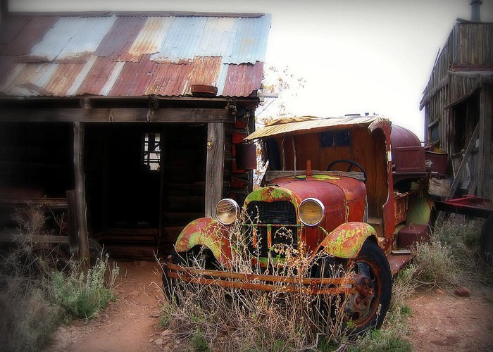 Car Greeting Card featuring the photograph Rusted Classic by Perry Webster