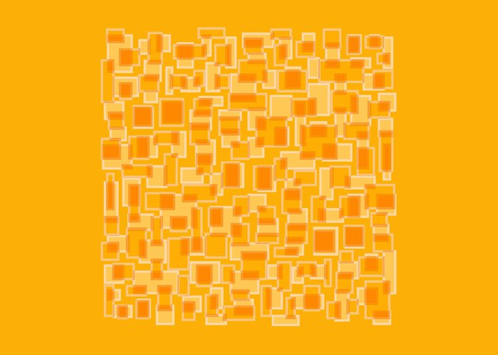 Yellow Greeting Card featuring the painting Saffron Yellow Abstract by Frank Tschakert