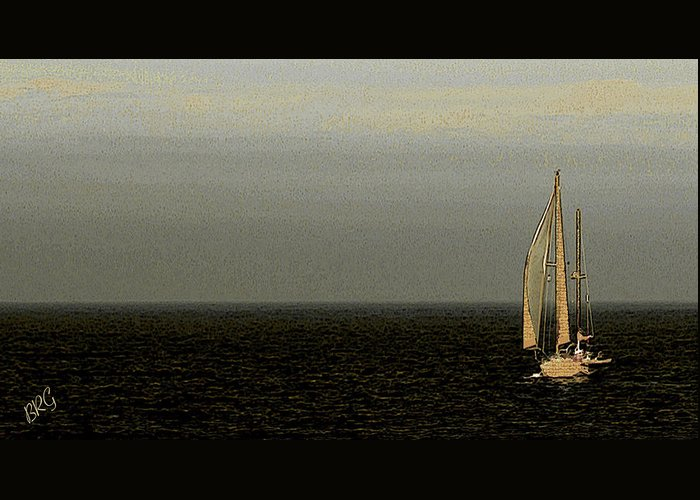 Sailboat Greeting Card featuring the photograph Sailing by Ben and Raisa Gertsberg
