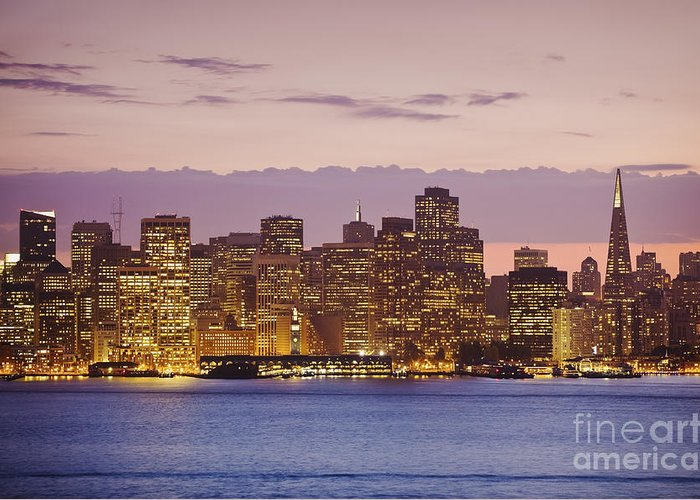 Bay Greeting Card featuring the photograph San Francisco Skyline by Bryan Mullennix