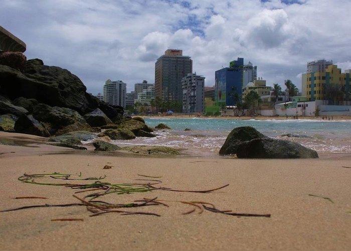 San Juan Greeting Card featuring the photograph San Juan Beach Iv by Anna Villarreal Garbis