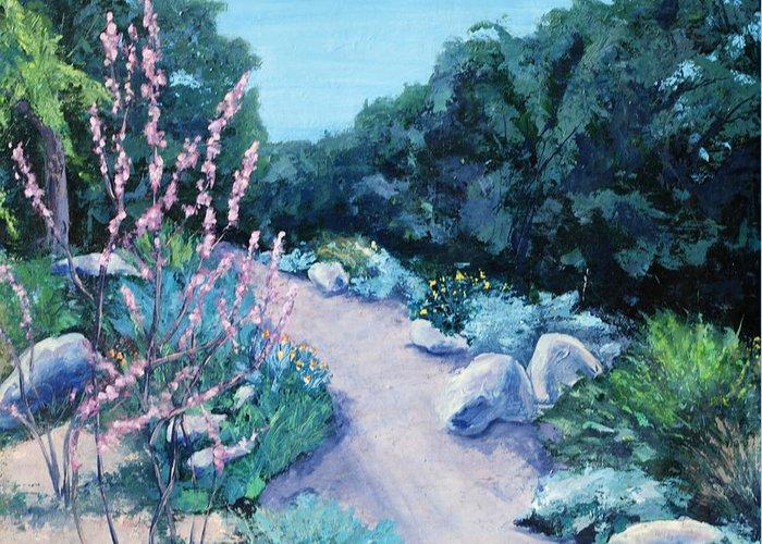 Santa Barbara Botanical Gardens Greeting Card featuring the painting Santa Barbara Botanical Gardens by M Schaefer