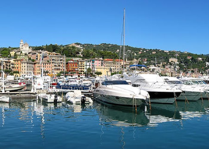 3scape Photos Greeting Card featuring the photograph Santa Margherita Ligure Panoramic by Adam Romanowicz
