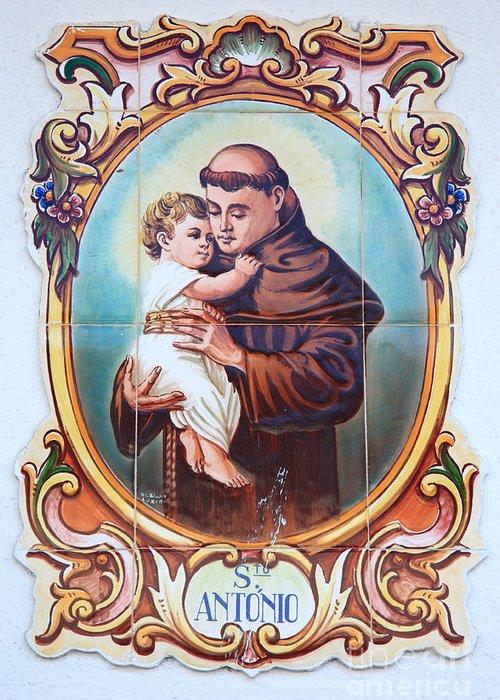 Anthony Of Padua Greeting Card featuring the photograph Santo Antonio De Lisboa by Gaspar Avila