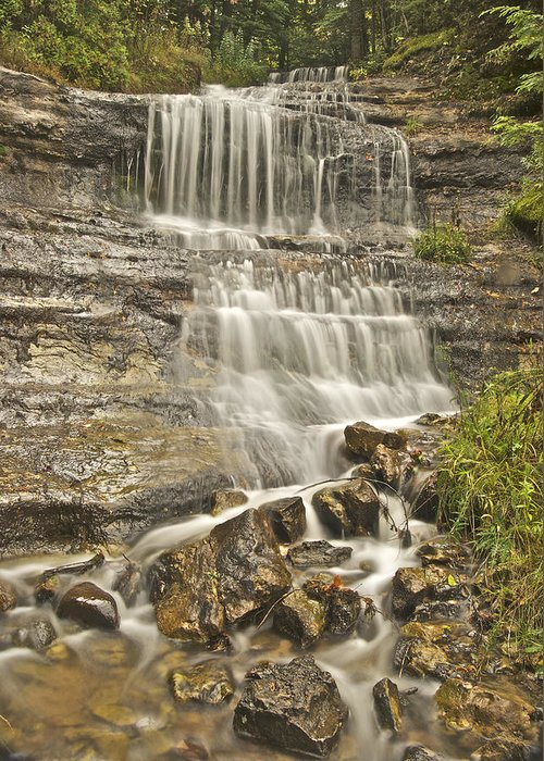 Alger Greeting Card featuring the photograph Scenic Alger Falls by Michael Peychich