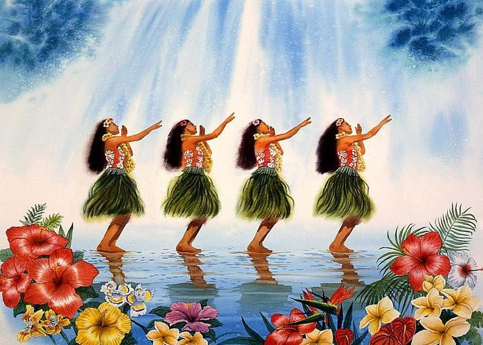 Hawaii Greeting Card featuring the painting Scent Of Paradise by John YATO