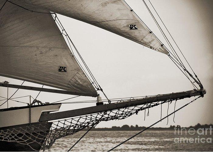 Tall Ship Greeting Card featuring the photograph Schooner Pride Tall Ship Charleston Sc by Dustin K Ryan