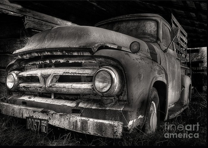Scotopic Greeting Card featuring the photograph Scotopic Vision 6 - 53 Ford by Pete Hellmann