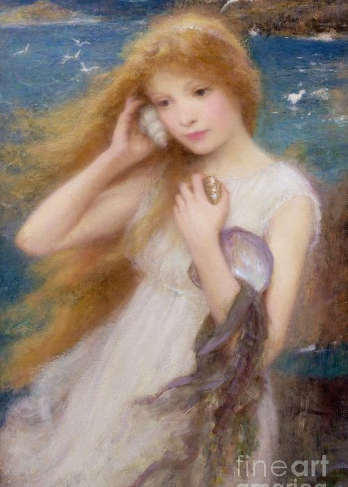 Sea Nymph Greeting Card featuring the painting Sea Nymph by William Robert Symonds