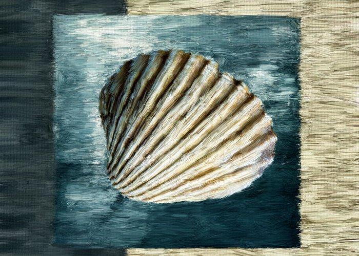 Seashell.seashells Greeting Card featuring the digital art Seashell Souvenir by Lourry Legarde