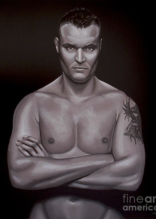 Semmy Schilt Greeting Card featuring the painting Semmy Schilt by Paul Meijering