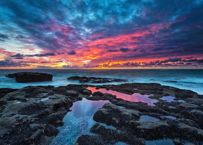 Serene Sunset Greeting Card by Robert Bynum